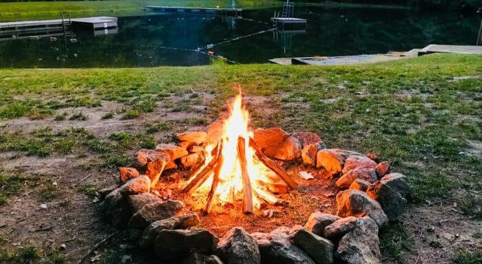 Campfire pit at Camp Kanuga
