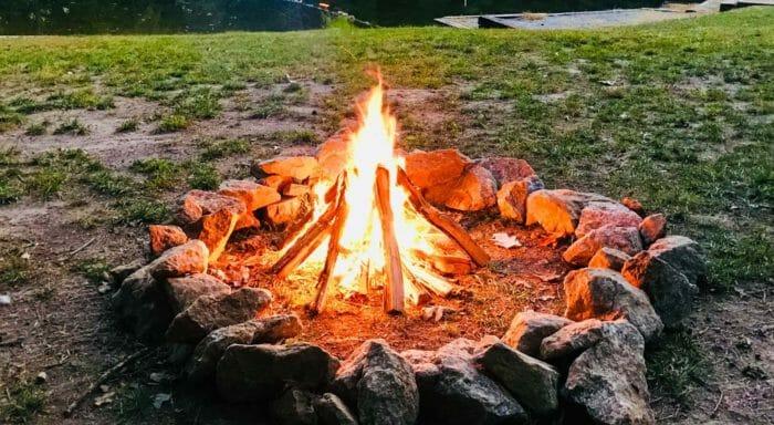 Fire pit at Kanuga