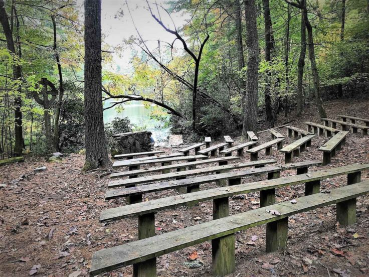 Outdoor chapel area