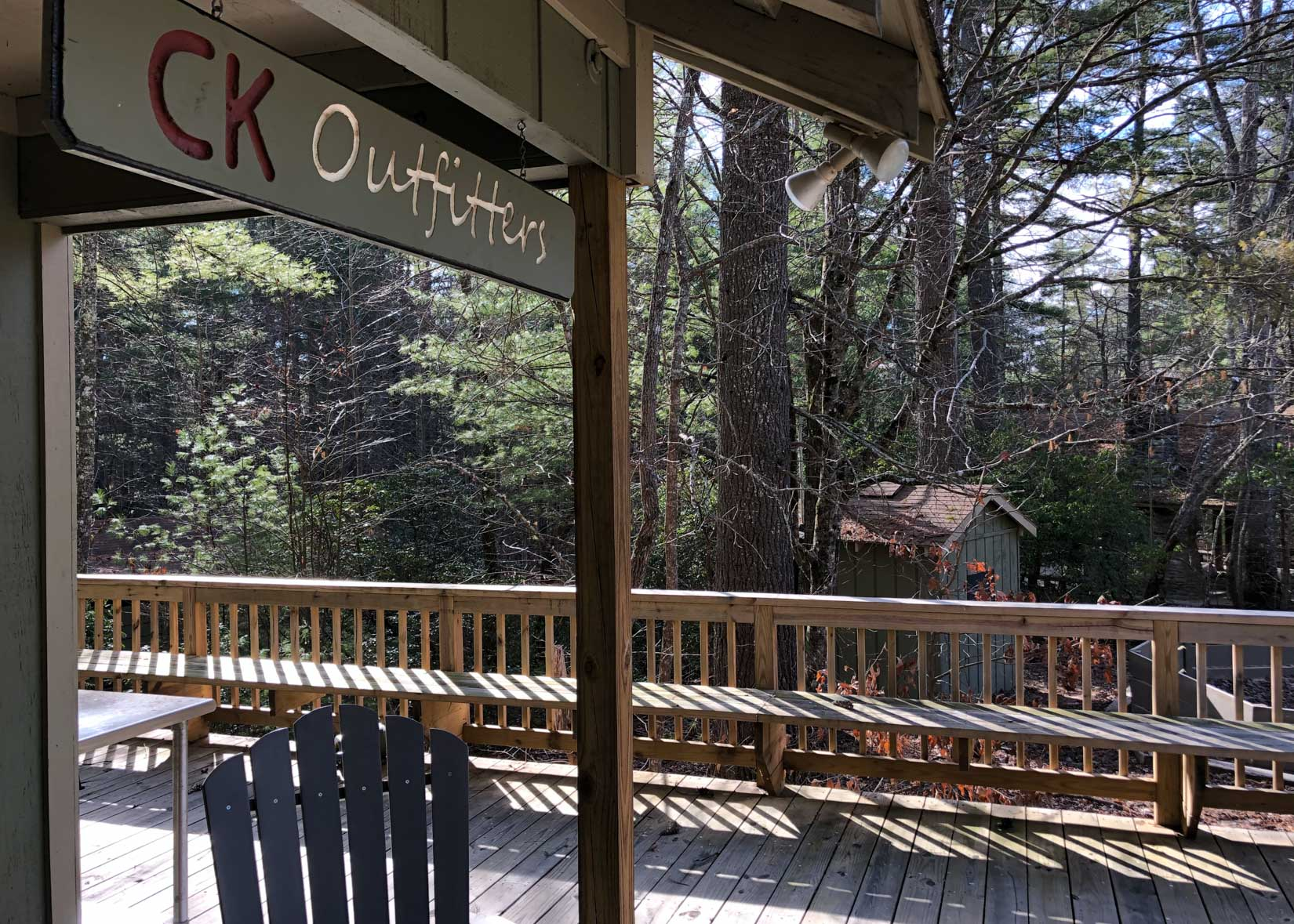 Exterior of the CK Outfitters