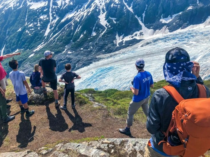 Explorers hiking on the Alaska Expedition trip