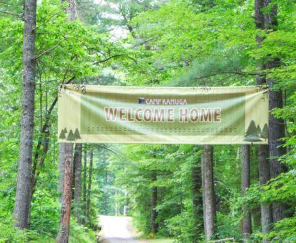 Welcome Home sign at Camp Kanuga
