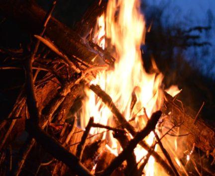 Bonfire at Adult Camp
